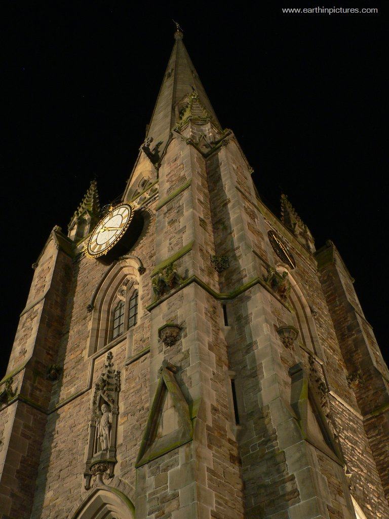 Tower of the St Martin's Church at night ( 768x1024 )