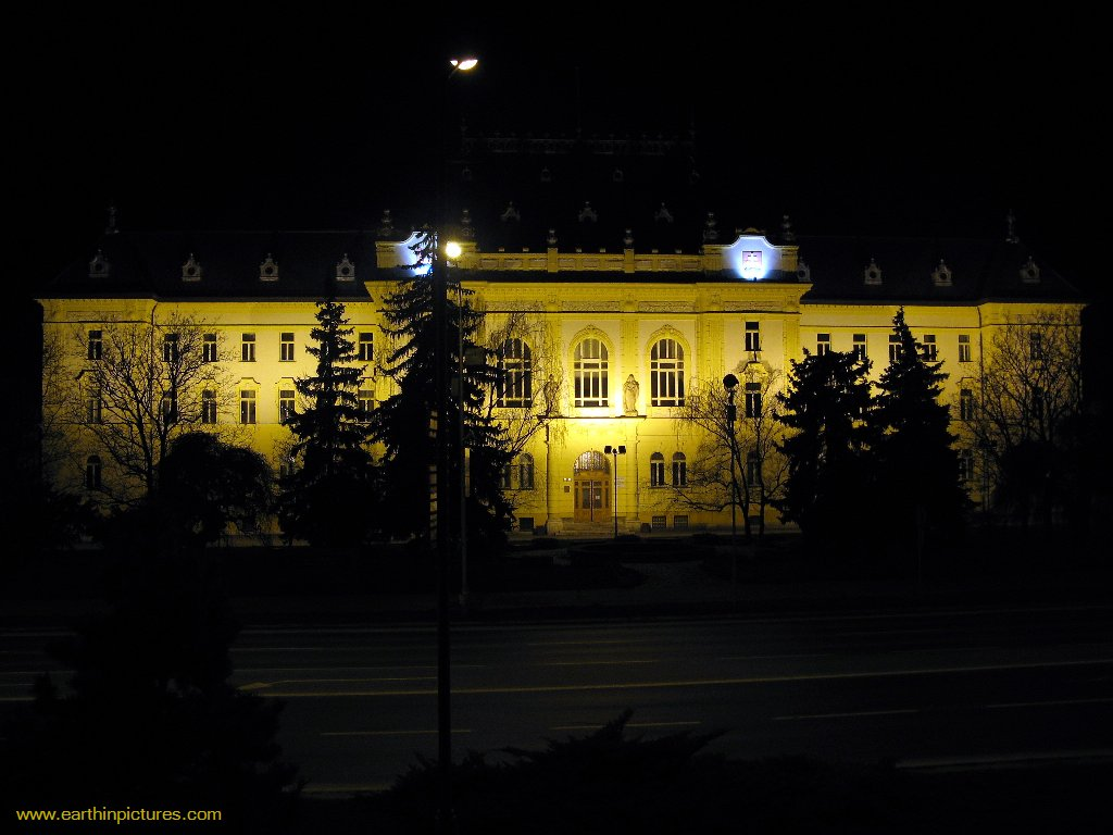 Palace of Justice (District and Regional Court in Nitra) at Night ( 1024x768 )