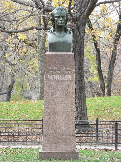 Johann Christoph Friedrich von Schiller Bust in the Central Park ( 480x640 )
