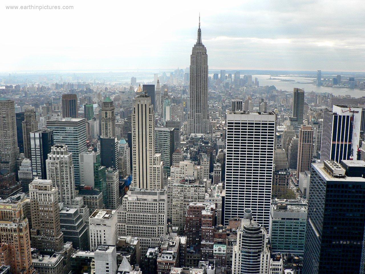 New york skyline view from the rockefeller center for Finestra new york